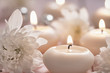 Candles and flowers - 76938476