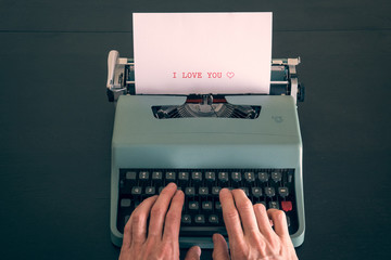 Writing with a typewriter
