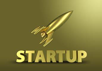 Startup Rakete Gold