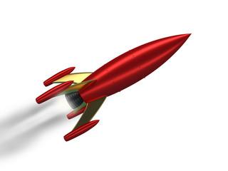 Startup Rakete fliegend