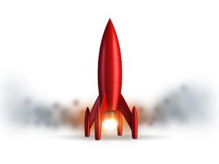 Startup Rakete Rot