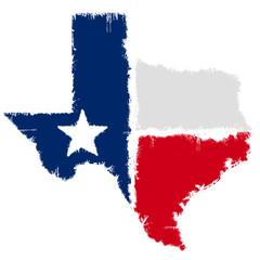 Grunge map flag of Texas
