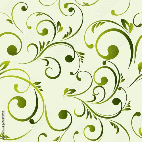 Fototapeta Vector floral seamless pattern