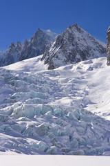 glacier of mont blanc