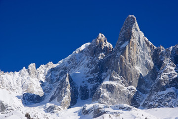 """aiguille du dru"" peack of europen alps"