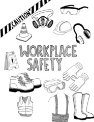 Workplace safety doodle