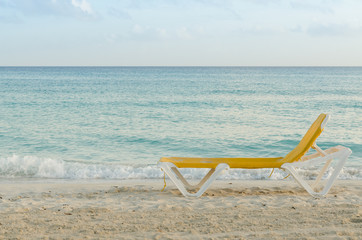 deckchair, seashore