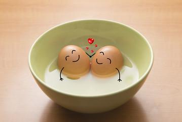 Huevos en San Valentin