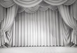 white curtains - 76941626