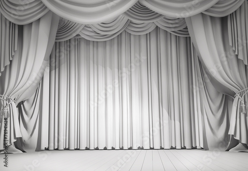 Leinwanddruck Bild white curtains