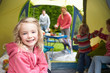 Family Enjoying Camping Holiday On Campsite - 76941858