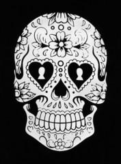 Calavera floral,Floral skull.  Ilustración vectorial