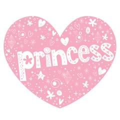 princess heart shaped lettering design