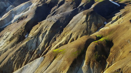 Aerial volcano landscape geology environment mineral rock National Park Iceland