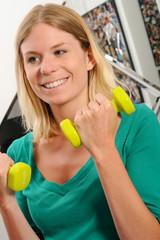 Female Fitness Dumbbells
