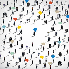 Multiethnic Group Community Social Gathering Concept