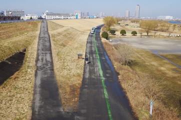 サイクリングロードの分岐