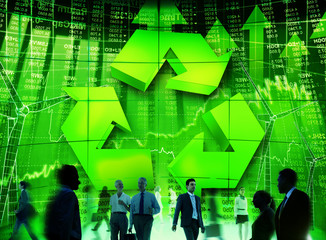 Business People Commuter Technology Security Recycling Concept