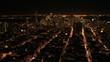 Aerial illuminated view Skyscrapers, San Francisco, USA