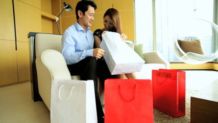 Designer Shopping Male Female Heterosexual Couple Wealth Luxury Hotel