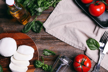 Mozzarella on the table