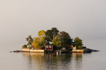 Swedish islands near the Stockholm