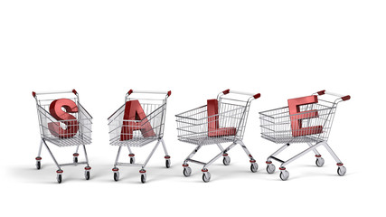 Sale text in shopping carts