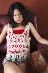 ウェスタンスタイルの日本人ポートレイト