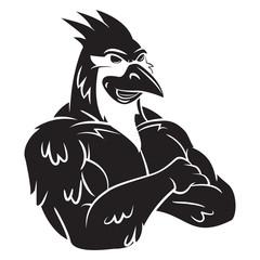 Cardinal Bird Mascot Tattoo