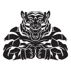 Tiger Strong Mascot Tattoo