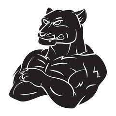 Panther Strong Mascot Tattoo