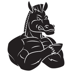 Horse Strong Mascot Tattoo