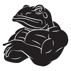 Frog Strong Mascot Tattoo
