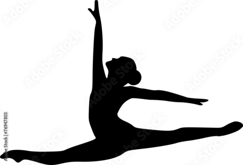 Ballet Jumping Dancer - 76947803