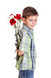 Little boy with carnations