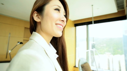 Female Asian Chinese Business Traveller Luxury Penthouse Accommodation
