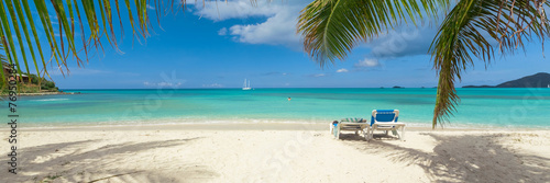 Fotobehang Strand Tropical white sand beach