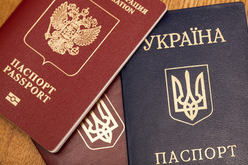 Passports of citizens of Russia and Ukraine