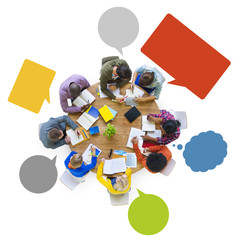Diversity Designer Team Brainstorming Meeting Working Concept