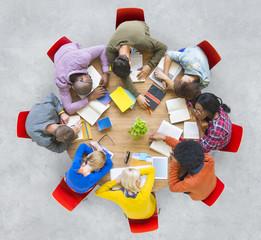 Diversity Meeting People Ideas Team Tried Asleep Concept