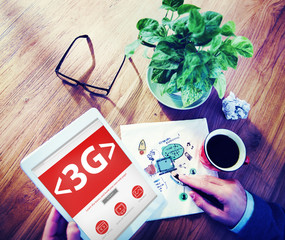3G Internet Speed Network Search Concept