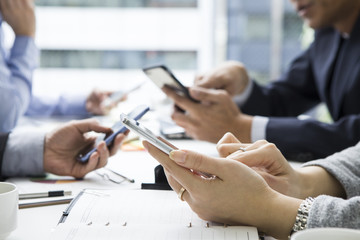 Businessman has been confirmed schedule on your mobile phone