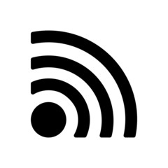 The wireless icon. wifi symbol.