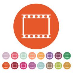 The film icon. Film symbol. Flat