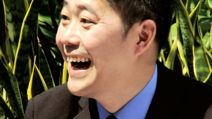Close Up Smart Asian Chinese Male Corporate Businessman