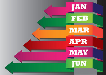 Monthly Growth Chart for Business Plan
