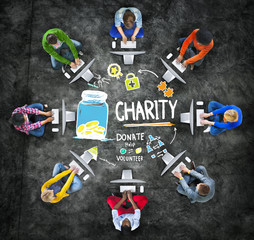 People Computer Support Give Help Donate Charity Concept