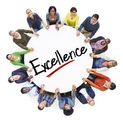 Aerial View of People Excellence Teamwork Support Concept