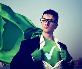 Check Mark Strong Superhero Success Professional Empowerment