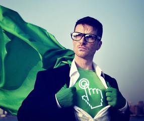 Start Strong Superhero Success Professional Empowerment Concept
